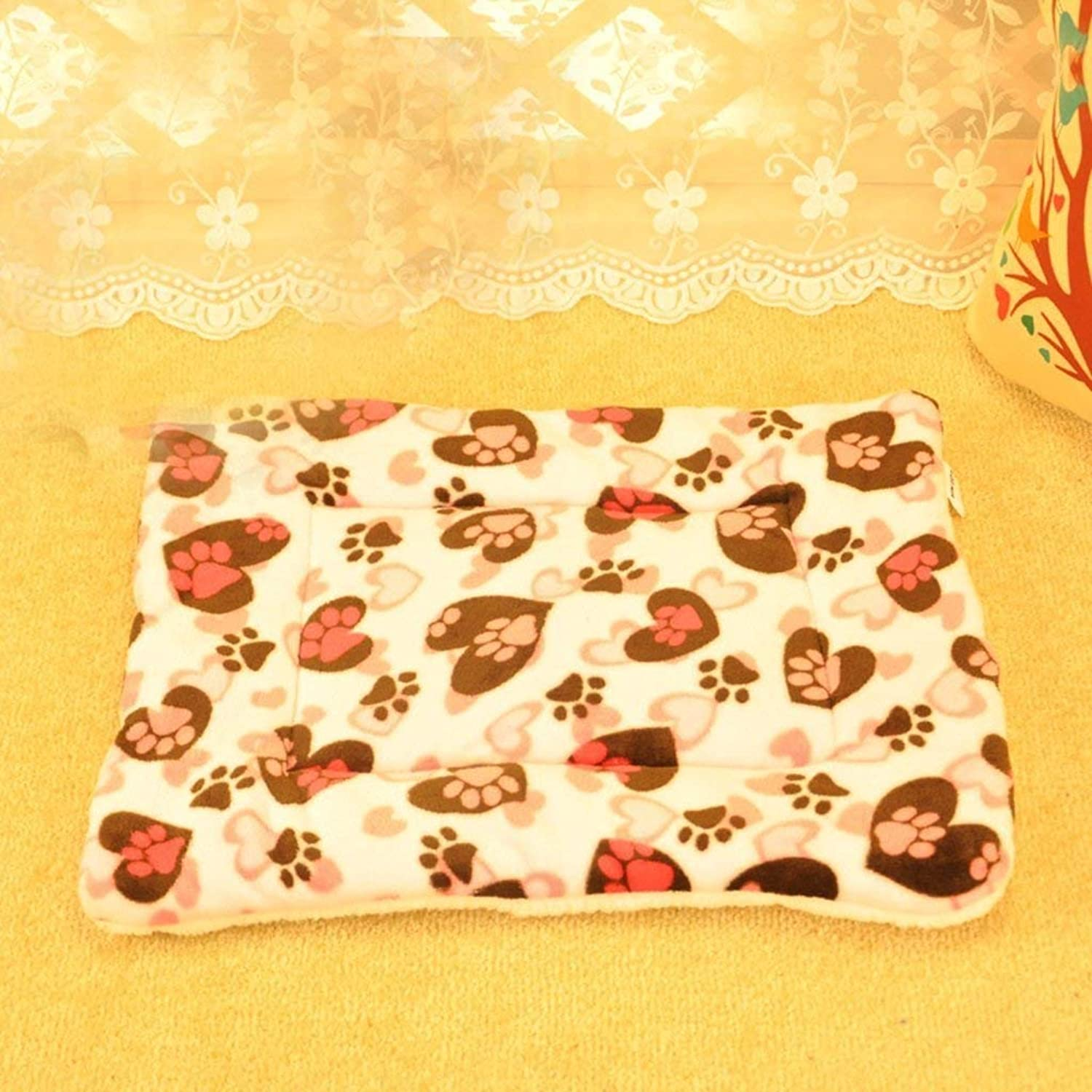 CFHJN HOME Dog Cushion Cat Cushion Blanket Pad for Pets(color   Pink) Pet Bed Blanket