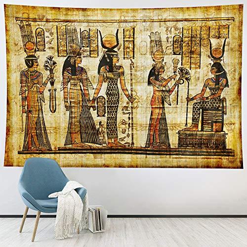 Ciaopangor Antiguo Tapiz Egipcio Decoración de pared,Vintage Mural Tapices para colgar en la pared,Tapiz histórico de religión antigua egipcia