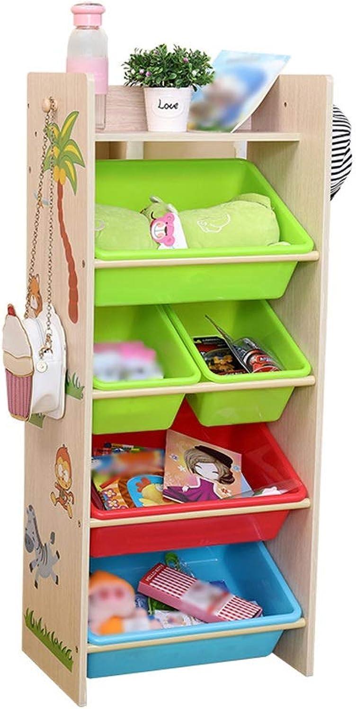 increíbles descuentos Organizador de almacenamiento de juguetes y libros Organizador de de de juguetes para Niños con 5 contenedores extraíbles. Estante de almacenamiento de madera para sala de juegos, cuarto de Niños, guardería  tienda hace compras y ventas
