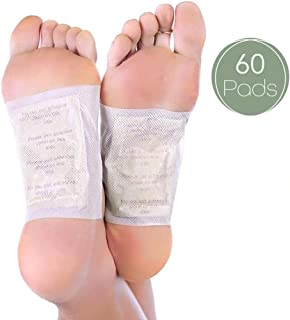 Foot Pads   All Natural Body Cleansing   60 Pain +   100% Organic and Natural FEET Patch 14x21x7)