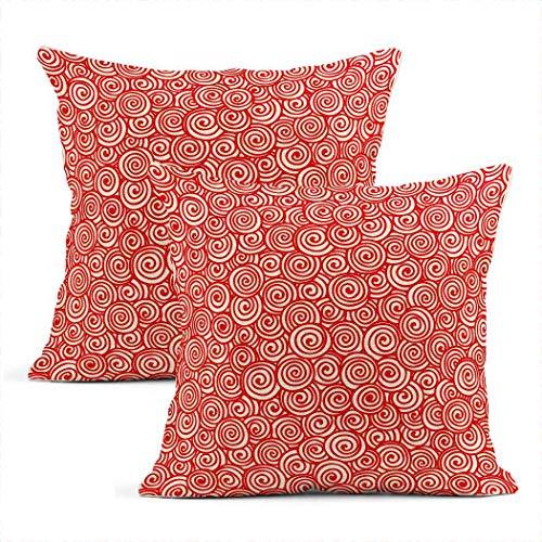 Meowjoy - Set di 2 federe per cuscino, motivo astratto, disegnate a mano, motivo circo, per auto, divano, camera da letto, decorazione per la casa, idea regalo per amici di famiglia, 56 x 56 cm
