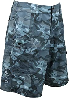 blue camo fishing shorts