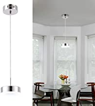 Harchee LED Pendant Lighting, Mini Round Contemporary Kitchen Island Light with Acrylic Shade, Adjustable Ceiling Hanging Lamp Fixture for Dining Room Counter Entryway Cafe Bar 12W Daylight 6000K
