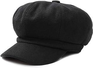 DORRISO Mode damer basker basker stickad toppmössa vår höst vinter mössa mjuk målarmössa basker mössa åttakantig hatt 54–6...
