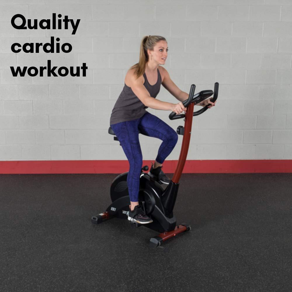 Best Fitness bicicleta estática vertical - BFUB1, Negro: Amazon.es ...
