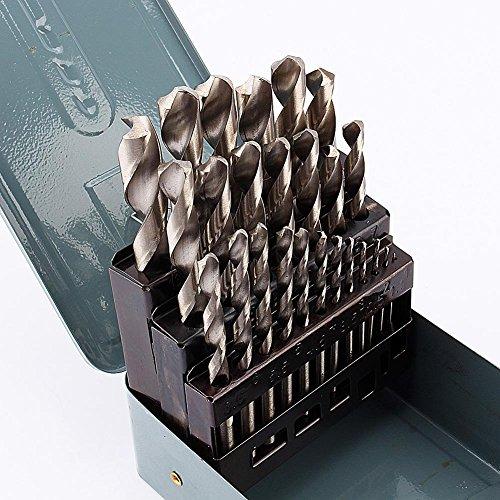 Set punte da trapano in metallo, Punte Metallo Rettificate HSS 1-13mm, 25 pz. Set punte da trapano con punta elicoidale, scatola, qualità professionale