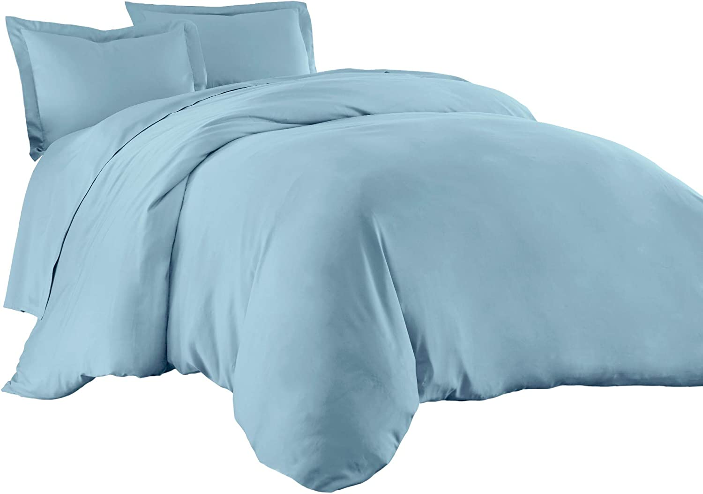 White Sterling Creek Silky Soft 100/% Bamboo Viscose Pillow Shams Set of 2 Standard//Queen