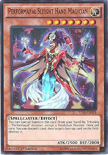 YU-GI-OH! - Performapal Sleight Hand Magician (YS16-EN001) - Starter Deck: Yuya - 1st Edition - Ultra Rare