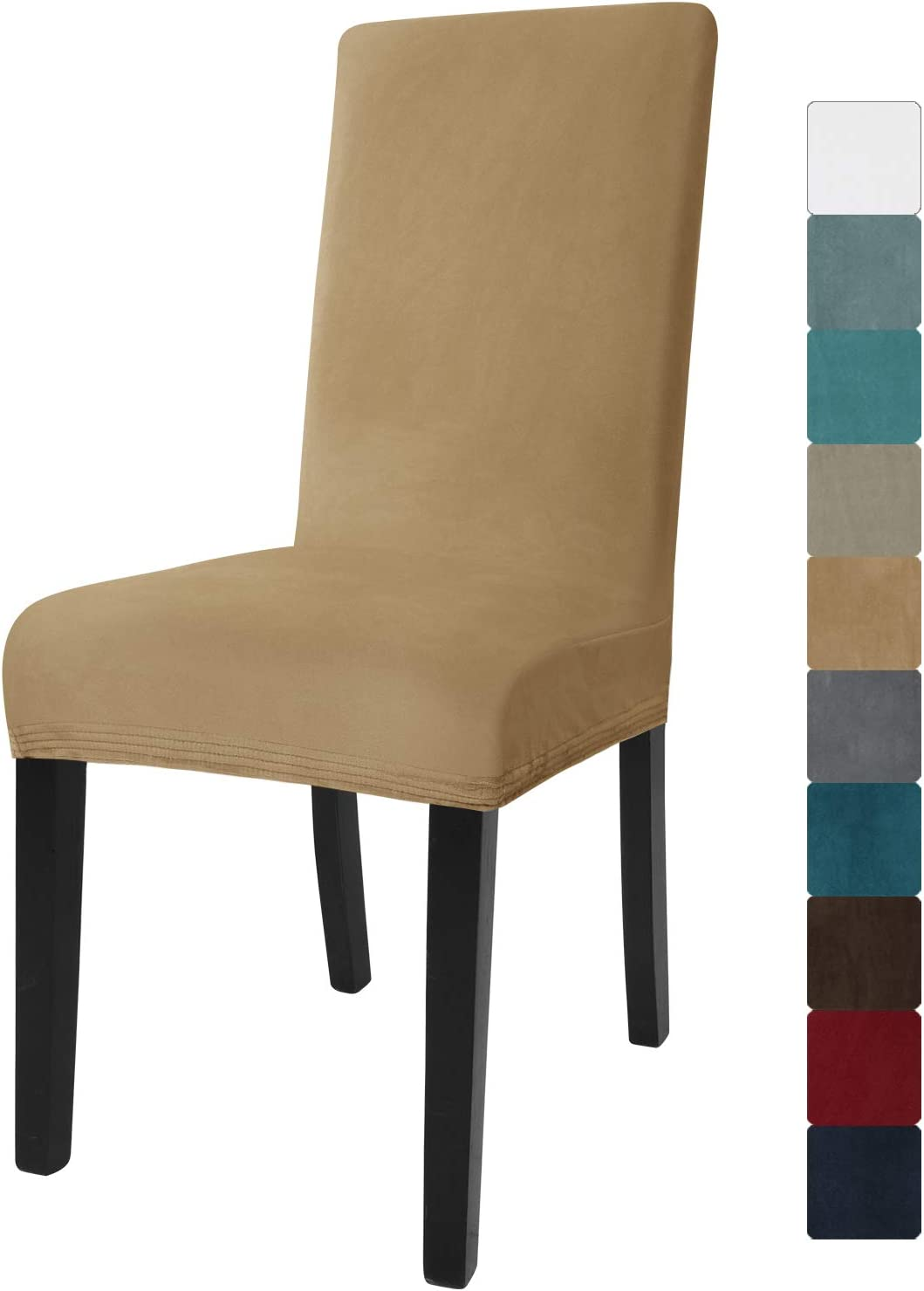 JIVINER Velvet Dining Chair Sacramento Mall High Stretch Outlet ☆ Free Shipping Slipcover Covers