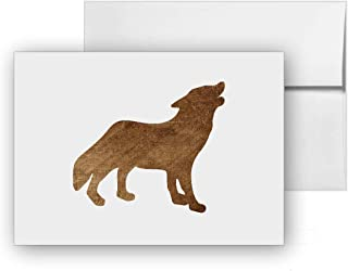 Wolf, Blank Card Invitation Pack, 15 cards at 4x6, with White Envelopes, Item 1321258