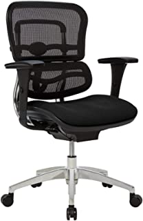 WorkPro 12000 Ergonomic Mesh/Fabric Managerial Mid-Back Chair, Black/Chrome