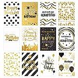 Edition Seidel Set 12 exklusive Geburtstagskarten mit Umschlag. Glückwunschkarte Grusskarte zum Geburtstag. Geburtstagskarte Karte Mann Frau (Doppelkarten/Klappkarten mit Briefumschlag)