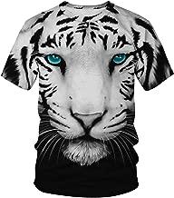 Pandolah Unisex T-Shirt 3D Pattern Print Novelty Short Sleeve Sports Fitness Summer Tee