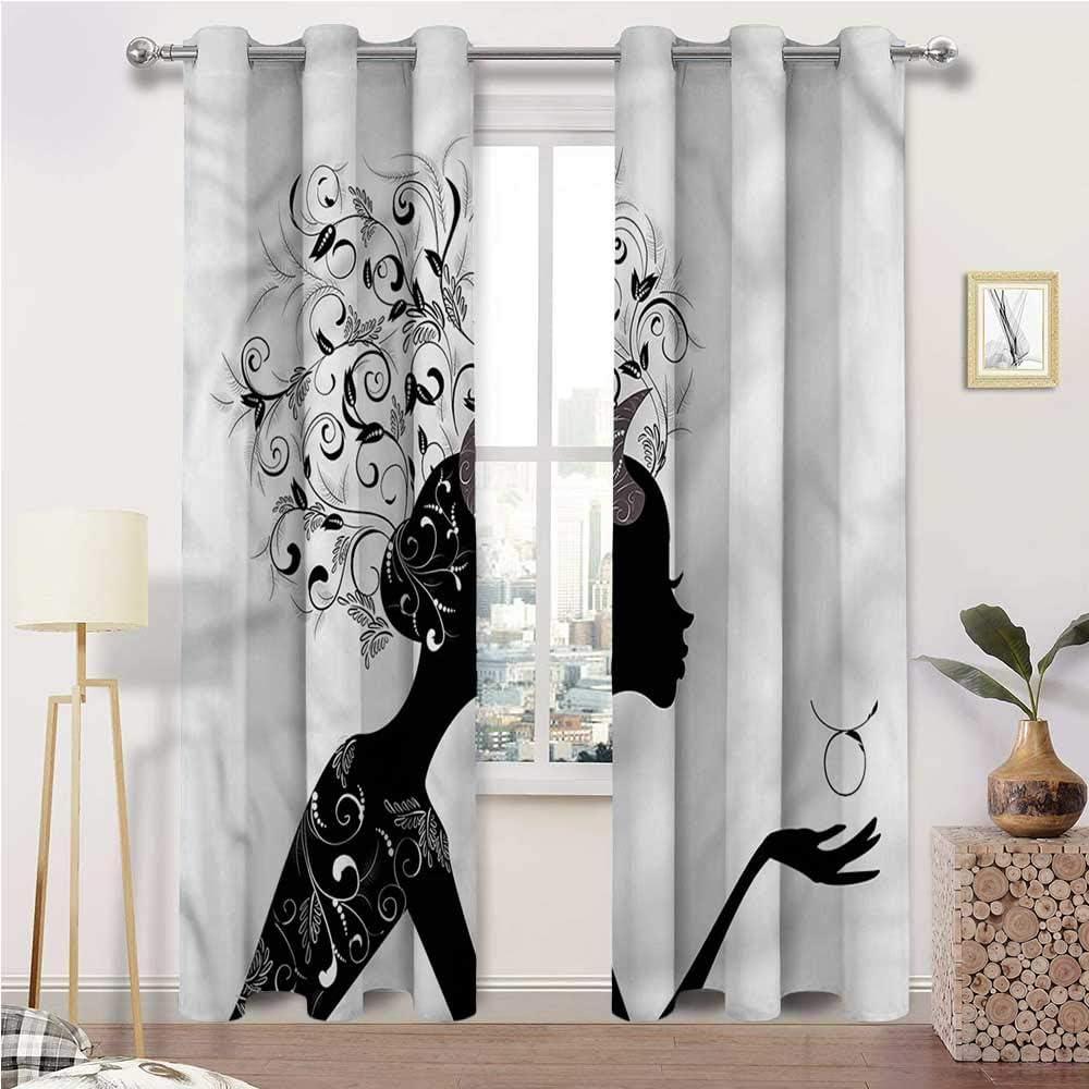 Interestlee Weatherproof Outdoor Curtains Max 70% OFF Zodiac Taurus Grommet OFFicial store