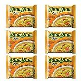 Fideos o noodles instantáneos Yum Yum sabor a curry - pack de 6 unidades
