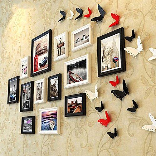 Fotolijst*Foto Wall Sticker Picture Frame Combinatie Xuan Restaurant Box Muren zijn in zwart en wit gehouden