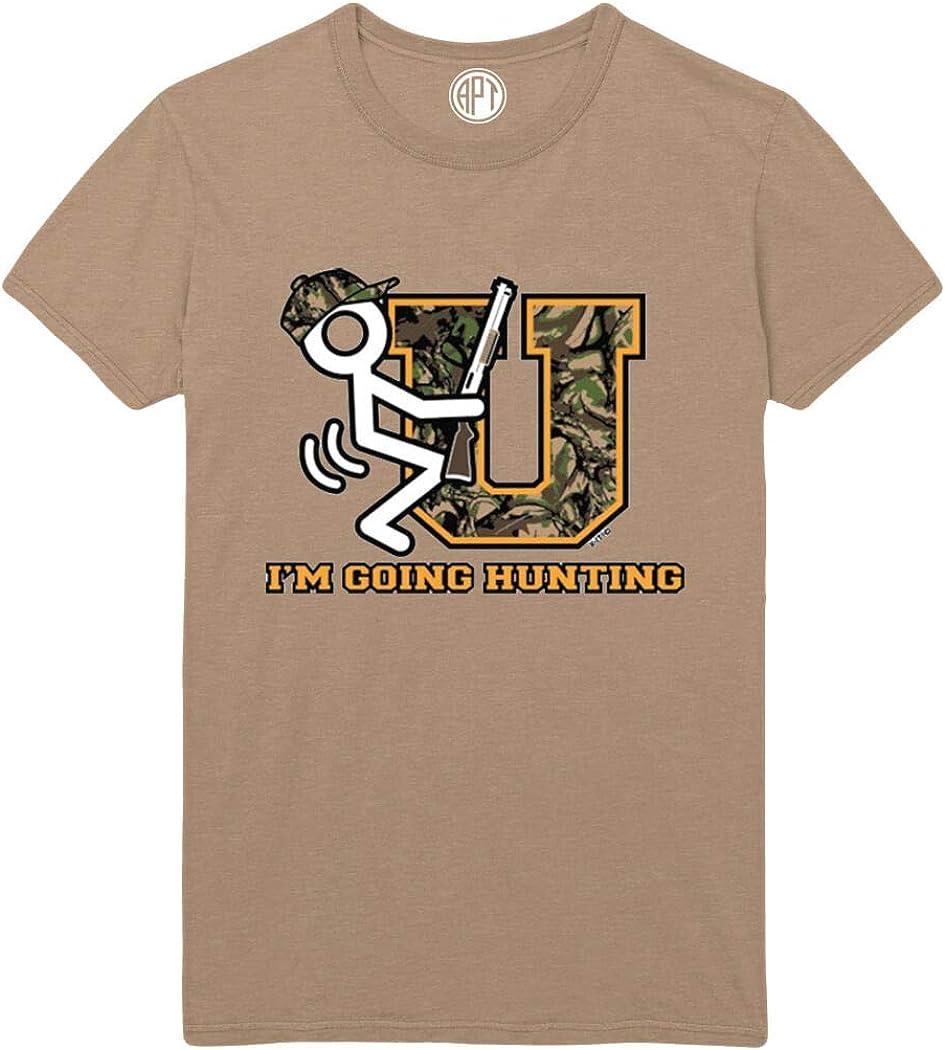Fk U Im Going Hunting Printed T-Shirt - Sand - 2XLT