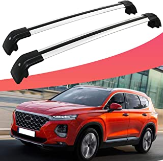 SnailAuto Fit for 2019 2020 Hyundai Santa Fe Silver Lockable Cross Bars Roof Rack Baggage Luggage Carrier