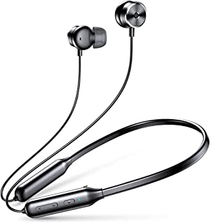 AINOPE Neckband Bluetooth Headphones with ANC, Ainope Active Noise Cancelling Wireless Earphones with Built-in Magnets, in-Ear Stereo Sound with Mic for Sports [Black]