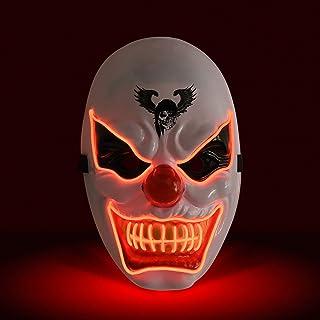 KATELUO Purge Mask, LED-mask, halloween mask, maskmaskmaskmasker, lämplig för karnevalsaktiviteter i Halloween-skräckparty...