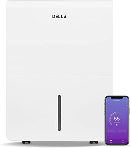 high quality DELLA 3000 Sq. Ft Dehumidifier Wifi Energy Star For Home And Basement With Auto or Manual Drainage, 0.9 Gallon Water Tank Capacity, 35 popular Pint-2019 DOE (Previous 2021 50 Pint) online