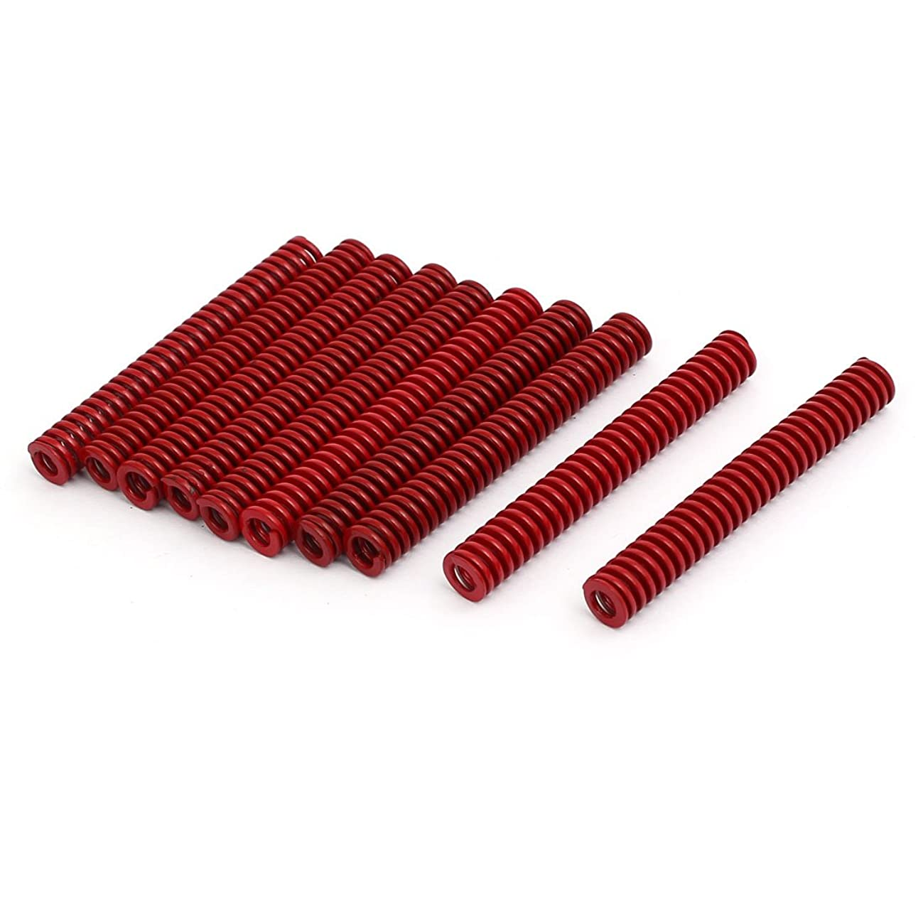 砂端末安全uxcell 圧縮金型ダイスプリング 工業用スプリング 中負荷 4mm x 8mm x 60mm レッド 10本入