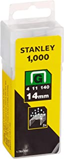 Stanley 1-TRA709T 14mm Heavy-Duty Staple (1000 Pieces), Yellow