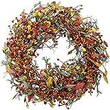 The Wreath Depot Appalachia Berry Silk Fall Door Wreath, 22 inch, Beautiful White Gift Box...