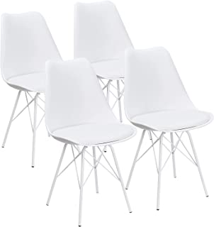 JUMMICO Kitchen Dining Chair with Soft Padded Mid Century...