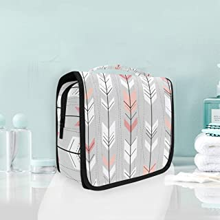 Makeup Bag Tribal Arrow Pattern Cosmetic Portable Travel Hanging Toiletry Bag