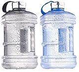 Speeron Flasche: Auslaufsichere Trinkflasche mit Tragegriff, 2,3 l, BPA-frei, 2er-Set (Sportflasche)