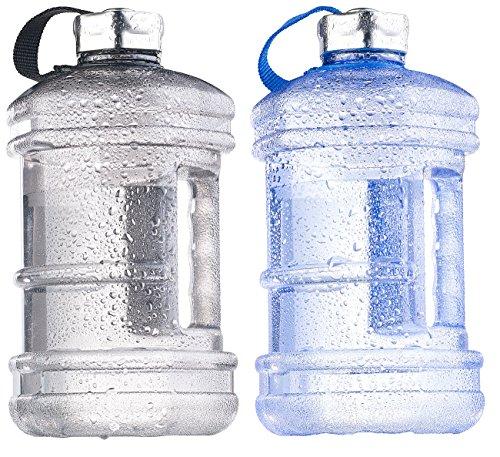 Speeron Wasserflaschen: Auslaufsichere Trinkflasche mit Tragegriff, 2,3 l, BPA-frei, 2er-Set (Camping Flasche)