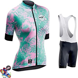 Women's Summer Cycling Jersey Short Sleeve 19D Padded Pant Outdoor Sports Wear Breathable Quick Dry,B,4XL