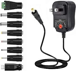 Belker 12W 3V 4.5V 5V 6V 7.5V 9V 12V Adjustable Voltage Universal AC/DC Adapter Power Supply for Household Electronics - 1A Max. [BN]
