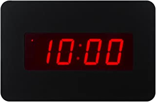 Timegyro Silent Digital Alarm Clock Wall Clock for Bedrooms Operated by Battery Only, Coming with Back Clip. You Can Place It on Desk Or Wall (Black)