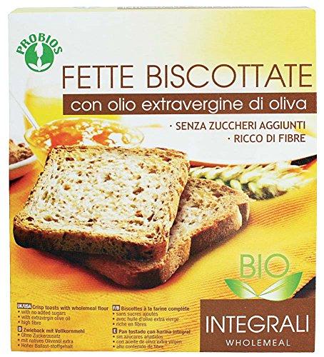 Probios Fette Biscottate Integrali Bio - Con Olio Extravergine di Oliva - 270 g