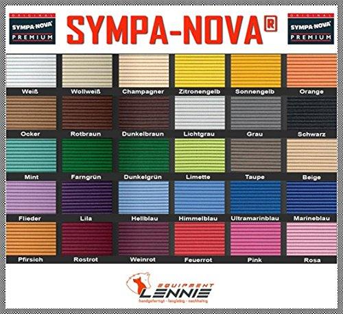SYMPA-NOVA-Premium Meterware, 65 cm breit, Länge: 10 cm, Farbe: Rostrot, Polster-Matte