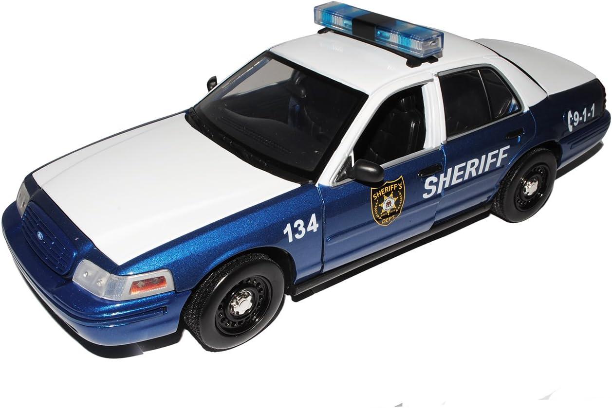 Greenlight Ford Crown Victoria Police Interceptor Sheriff 134 Amc The Walking Dead 1 18 Modell Auto Mit Individiuellem Wunschkennzeichen Spielzeug