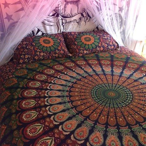 Traditional Jaipur Mandala Wandteppich, großer Elefant Wandbehang, indische Baumwolle Tagesdecke Queen Hippie, Schlafsaal, Raum Dekorationen Boho Picknick Werfen, Gypsy Beach Decke