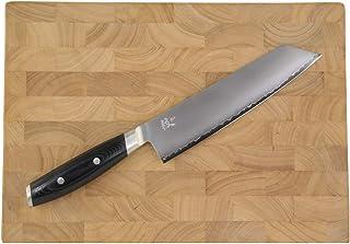 Yaxell MON - Juego de cuchillos de cocina fabricados en Seki/Japón, cuchillo de cocina de 3 capas, núcleo de acero dorado VG10 + tabla de cortar