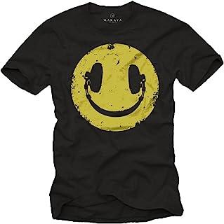 Camiseta Negra Hombre Hipster - Auriculares Hip Hop