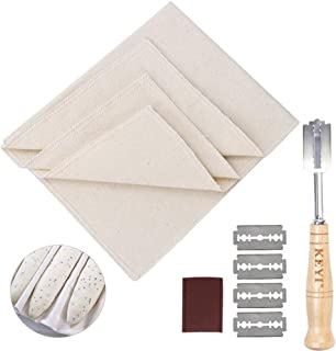 Bread Lame Set Hand Crafted with 5 replacement blade and Leather Protective Cover professional 100% Pure Cotton Pastry bak...