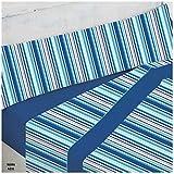 COTTON ARTean Juego de sabanas Invierno Franela 100% Algodon Modelo Rama Azul Cama de 180 x 190/200