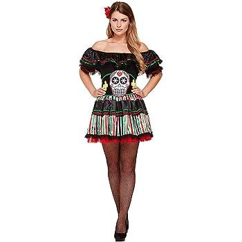 Partilandia Disfraz Catrina Mejicana Día de la Muerte Mujer Adulto ...