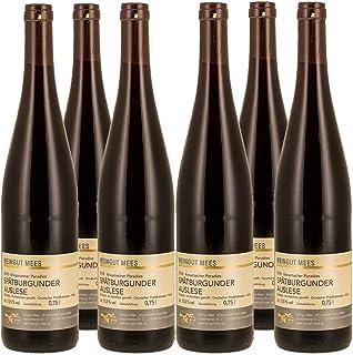 Weingut Mees SPÄTBURGUNDER ROTWEIN AUSLESE TROCKEN 2018 KREUZNACHER PARADIES Prämiert Wein Deutschland Nahe Paket 6 x 750 ml 100% Blauer Spätburgunder