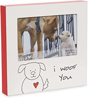 Pavilion Gift Company Blobby Dog - I Woof You Red Self Standing 4x6 Picture Frame