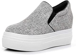 Women's Shoes New 2019 Leather Sneakers Loafers & Slip-Ons Low-Top Casual Shoes Athletic Shoes Fitness & Cross Training Shoes,Gray,39