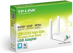 TP-LINK Archer T4UH - Adaptador inalámbrico USB de Banda Dual (AC 1200 Mbps, Antena Externa, USB 3.0, Cable de extensión USB)