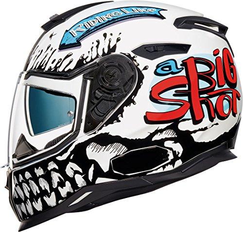 Nexx SX.100 Big Shot Helm Weiß/Schwarz L (59/60)