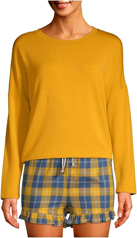 Apple Juice Long Sleeve Fleece Sleep Top